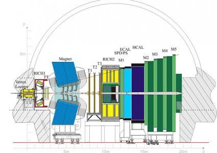 Detektor LHCb - rys. z domeny publicznej