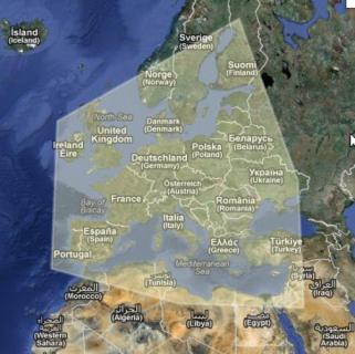 Obszar zamierzonej europejskiej elektroenergetycznej sieci przesyłowej