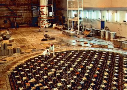 Wierzch reaktora RBMK Ignalino bez głowic elementów paliwowych