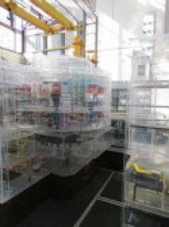 Ruchomy model reaktora