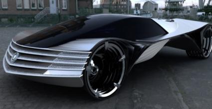 Wizja samochodu napędzanego laserem torowym - fot. prasowa